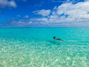 Aitutaki - Raffi am schnorcheln