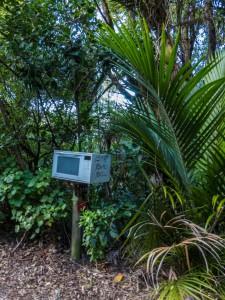 Mikrowelle als Briefkasten
