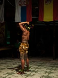 """Fiafia Tänzer """"mit traditionellem Tattoo"""""""